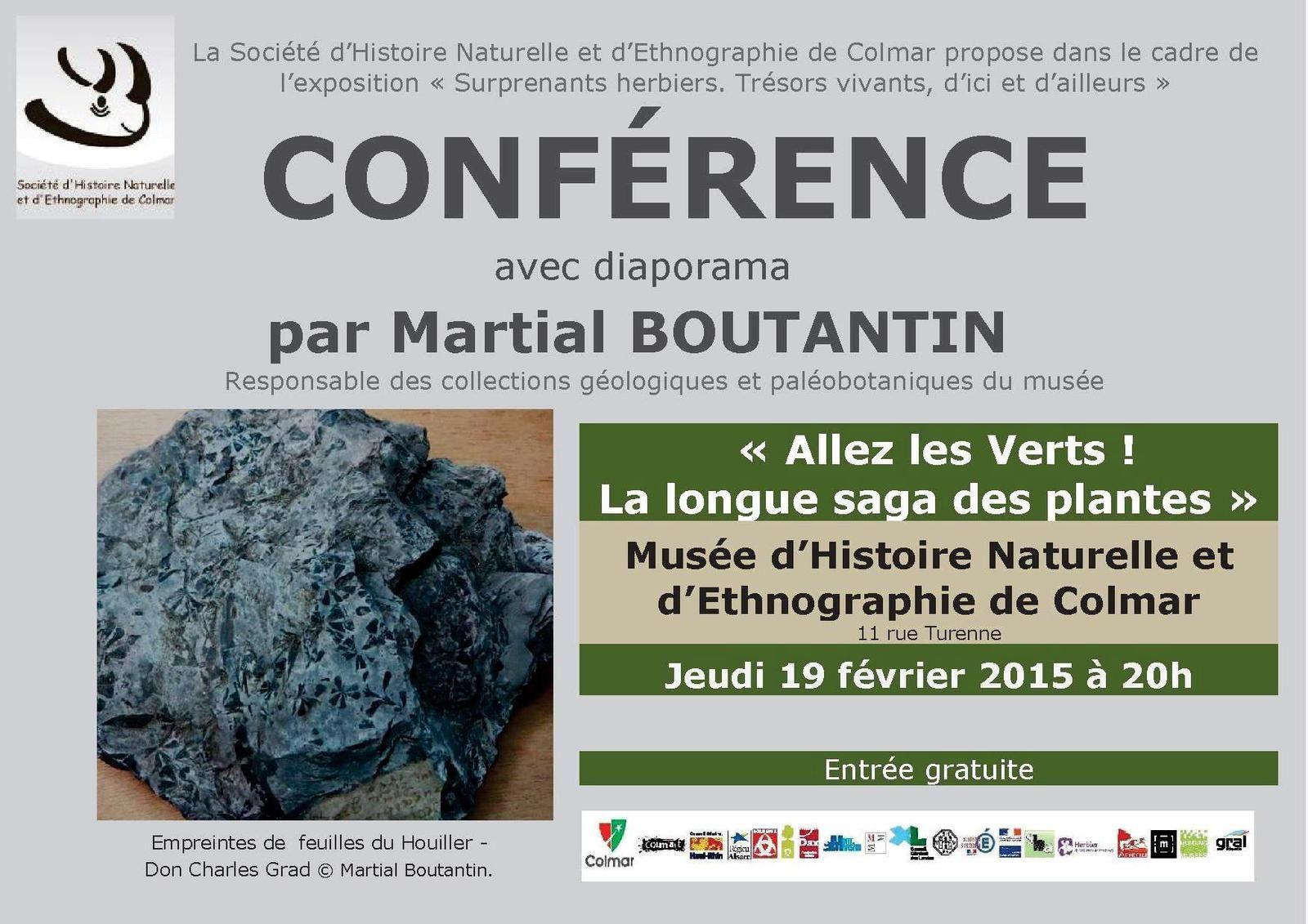 Vendredi 13 février, jeudi 19, samedi 21, trois rendez-vous au Muséum d'histoire naturelle de Colmar
