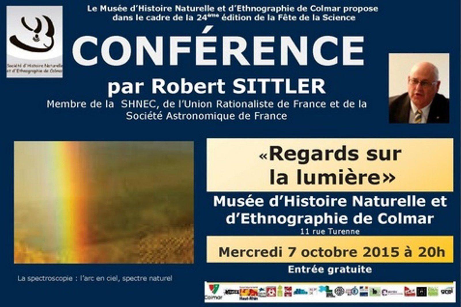 Mercredi 7, vendredi 9, samedi 10 octobre - Au Muséum d'Histoire naturelle de Colmar