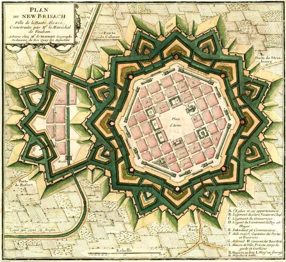 Plan de la ville par Vauban (vers 1697)