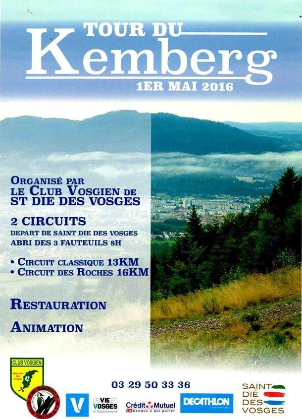 Dimanche 1er mai - Le tour du Kemberg, à Saint-Dié