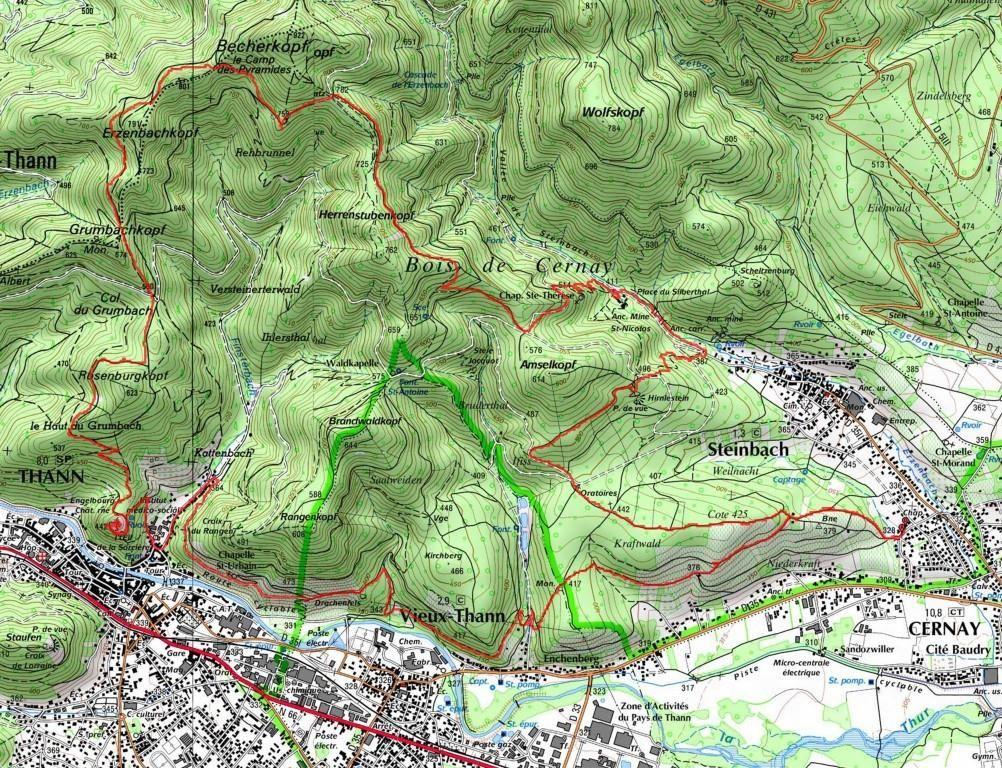 L'itinéraire de la randonnée du 18 mai