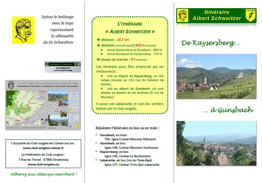 De Kaysersberg à Gunsbach  avec le Dr Schweitzer