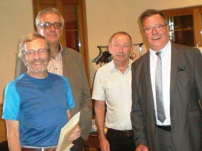 Daniel Jaegert, Jean Klinkert, François Fischer et Marcel Guth