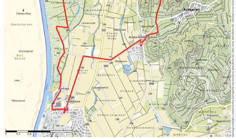 L'itinéraire de la randonnée du 4 janvier