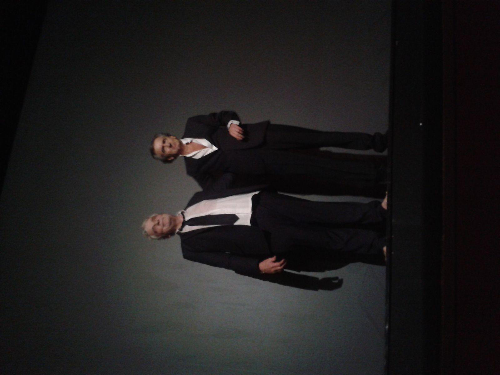 Lévy est venu saluer à la fin de la représentation, avec son acteur Jacques Weber