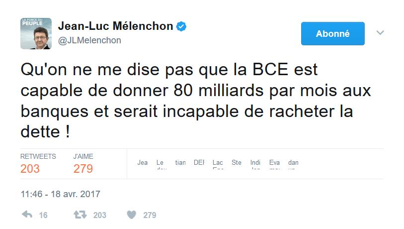 Tweet du 18 avril 2017