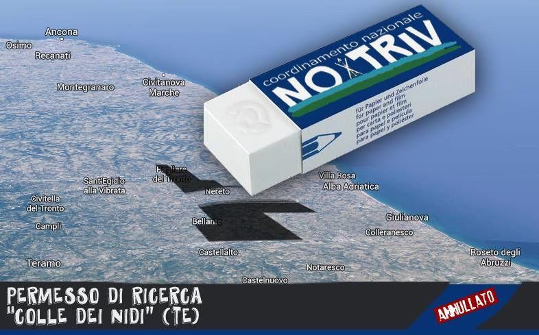 TAR Lazio ANNULLA permesso di ricerca di idrocarburi &quot&#x3B;Colle dei Nidi&quot&#x3B; (Teramo)