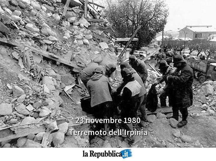 Per non dimenticare: sisma dell'Irpinia 23 Novembre 1980