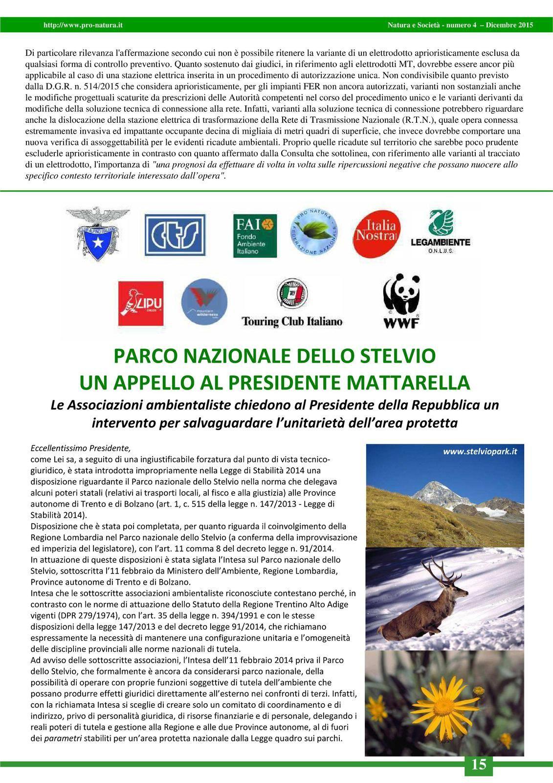 Notiziario &quot&#x3B;Natura e Società&quot&#x3B;, numero 4 - Dic. 2015, pp. 14 - 15