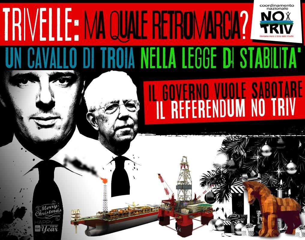 REFERENDUM NO TRIV: UN CAVALLO DI TROIA NELLA LEGGE DI STABILITA'