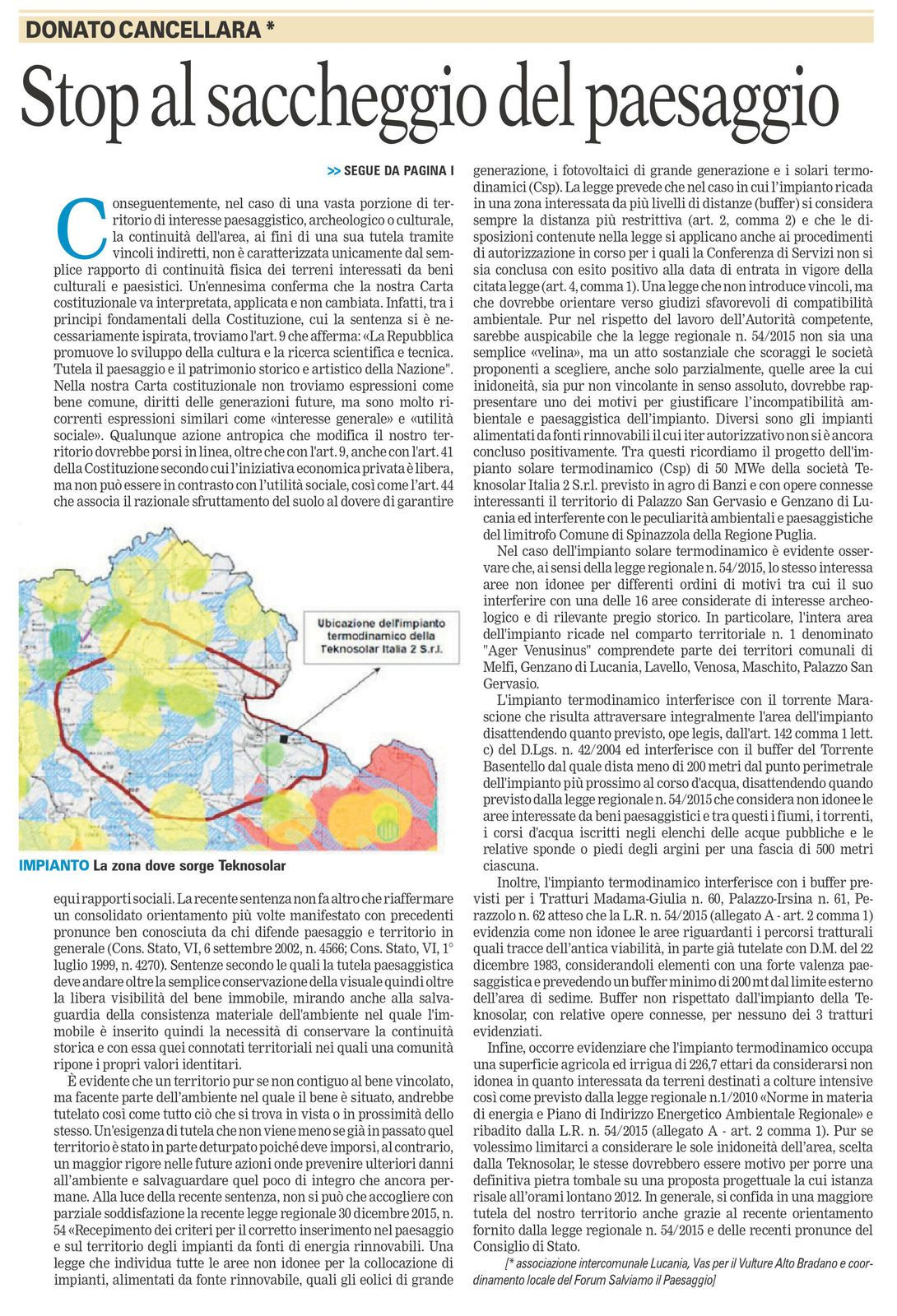 La Gazzetta del Mezzogiorno - ed. 5 marzo 2016