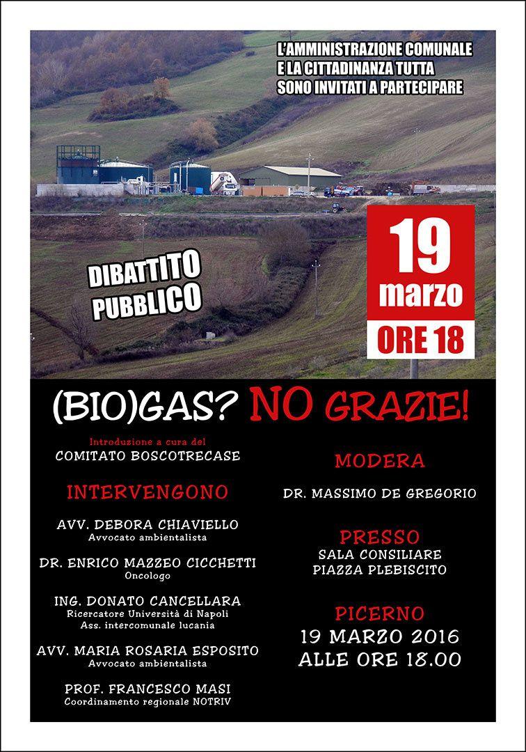 Incontro informativo sull'impianto a biogas in agro di Picerno.