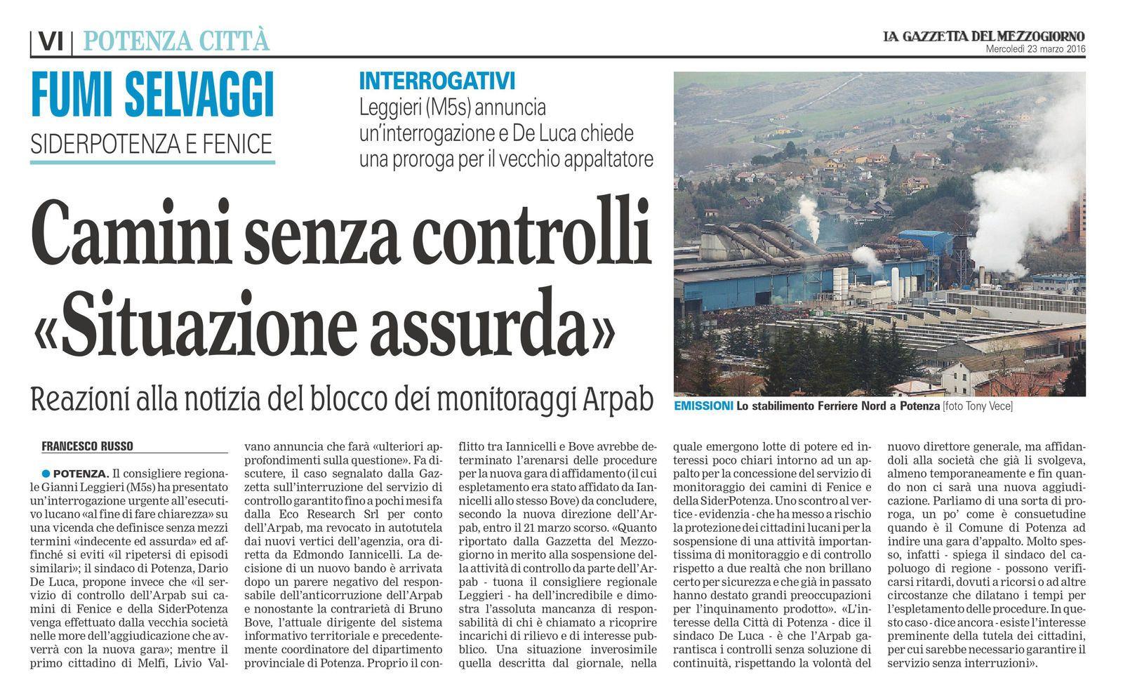 La Gazzetta del Mezzogiorno - ed. 23 marzo 2016