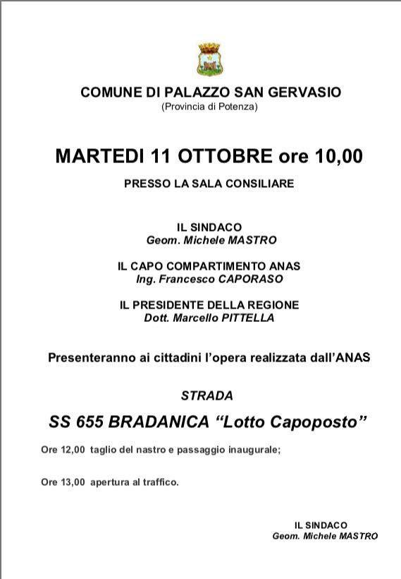 Il resoconto della protesta per l'arrivo del Presidente Pittella a Palazzo San Gervasio.