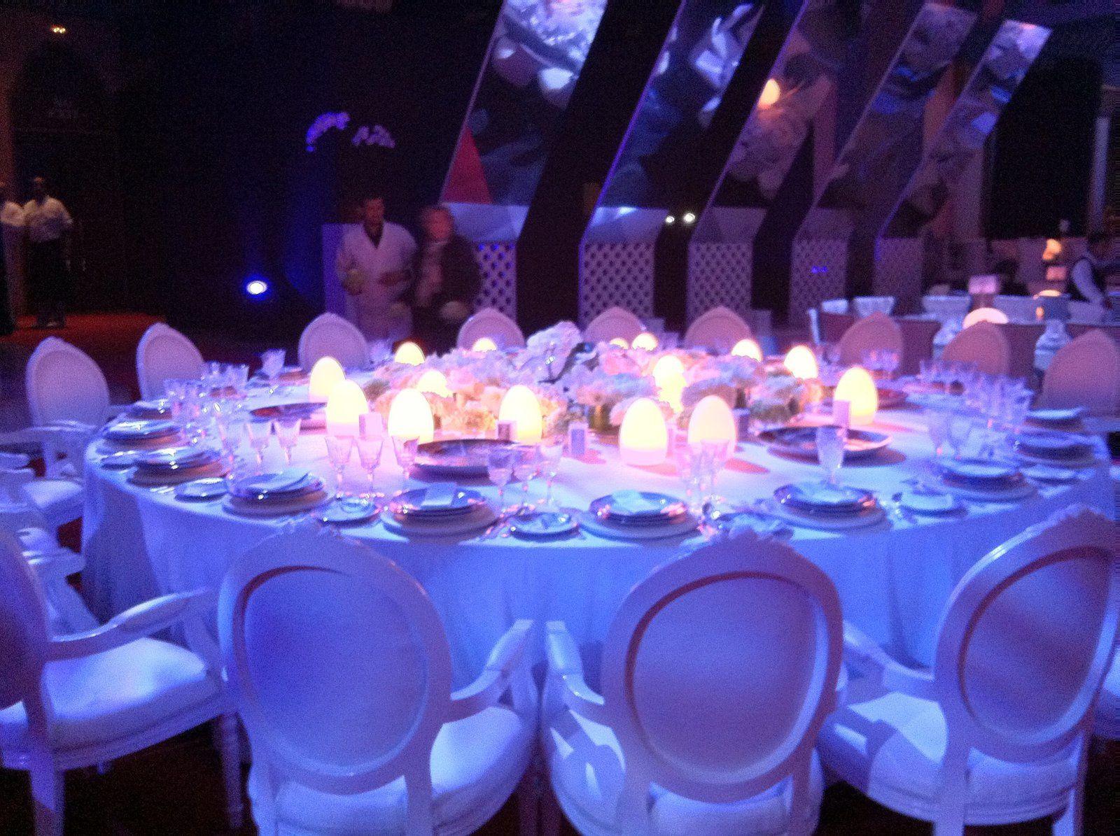 Centre de table sans fil lampes led sans fil rechargeables - Centre de table restaurant ...