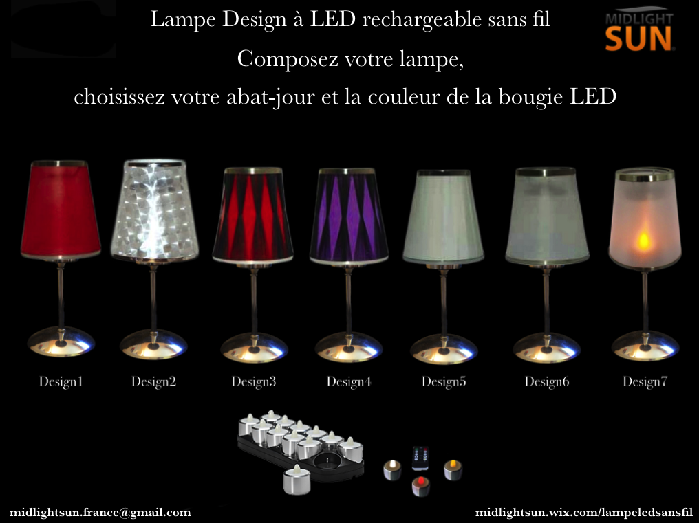lampe de table sans fil lampes led sans fil rechargeables. Black Bedroom Furniture Sets. Home Design Ideas