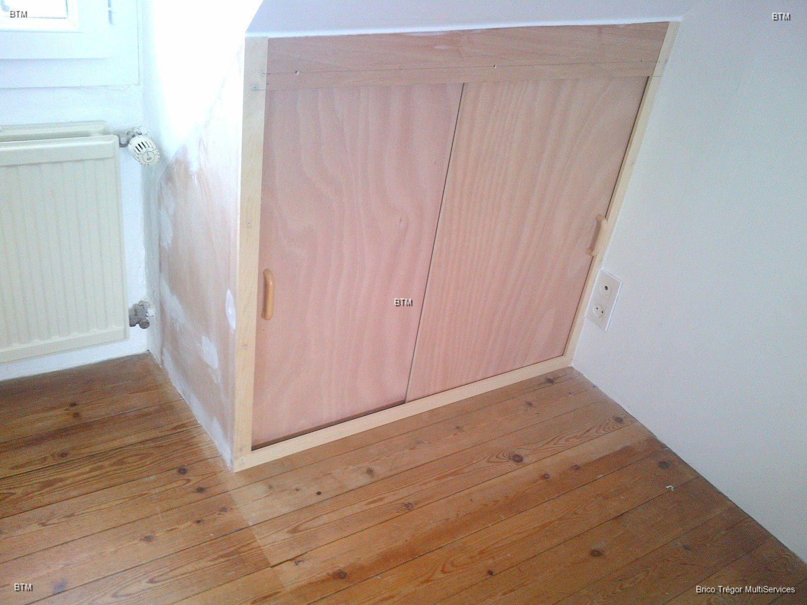 cr ation d 39 un placard avec suivi de la d nivellation de la sous pente brico tr gor multiservices. Black Bedroom Furniture Sets. Home Design Ideas