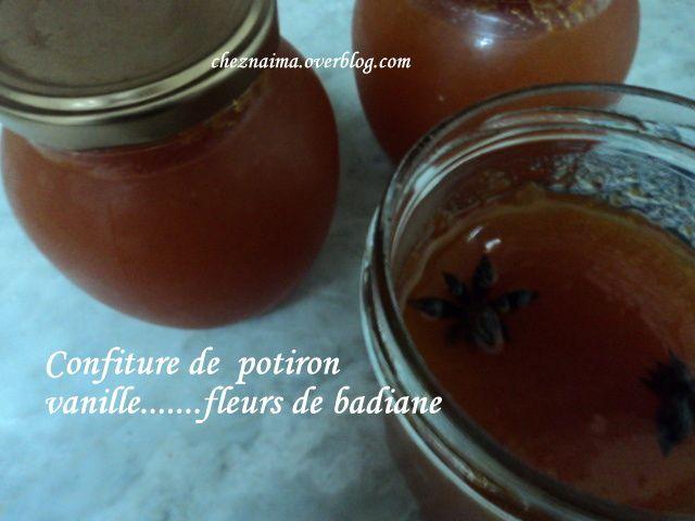 Confiture de potiron à la vanille et fleurs de badiane