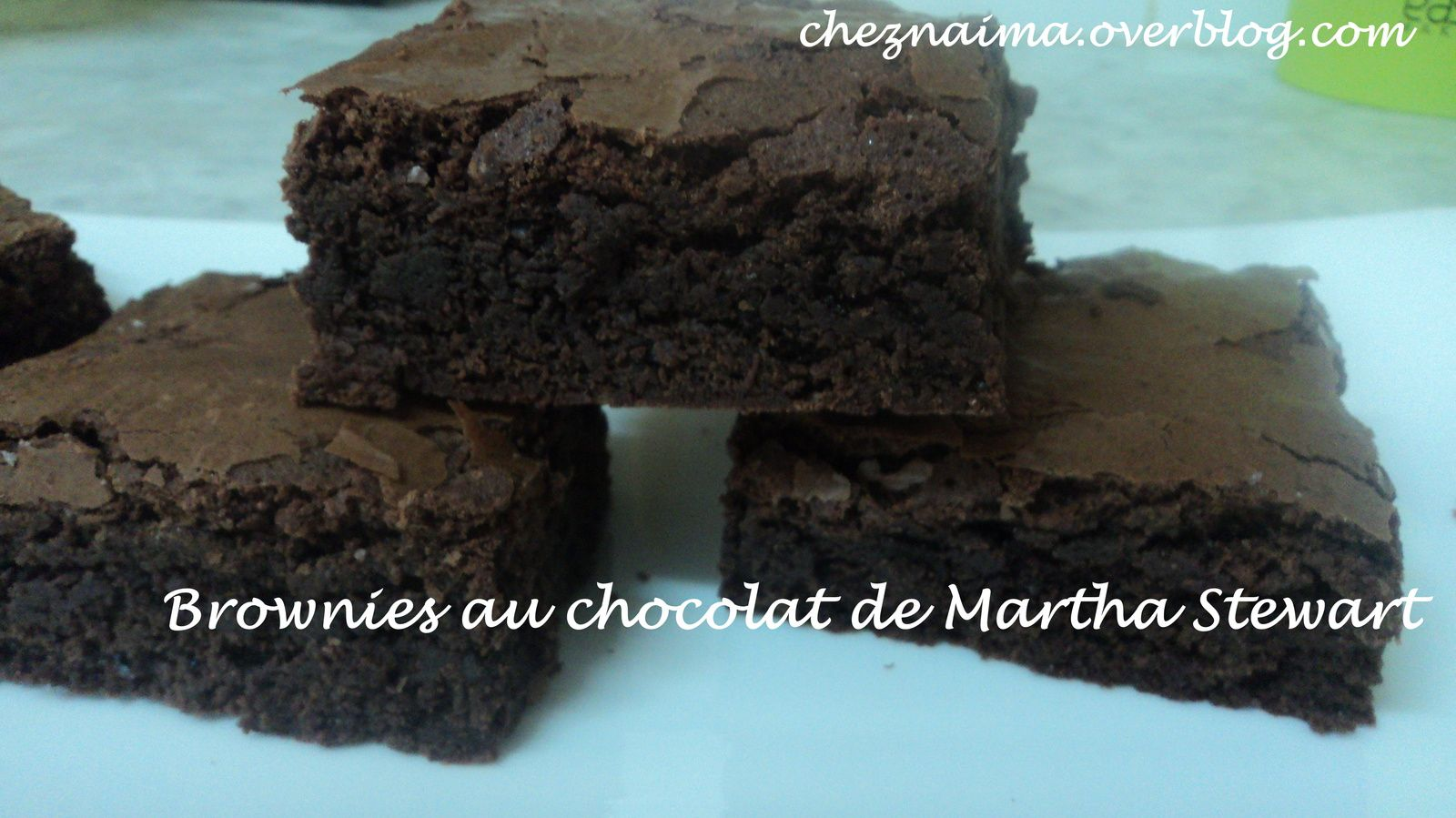 Brownies au chocolat de Martha Stewart
