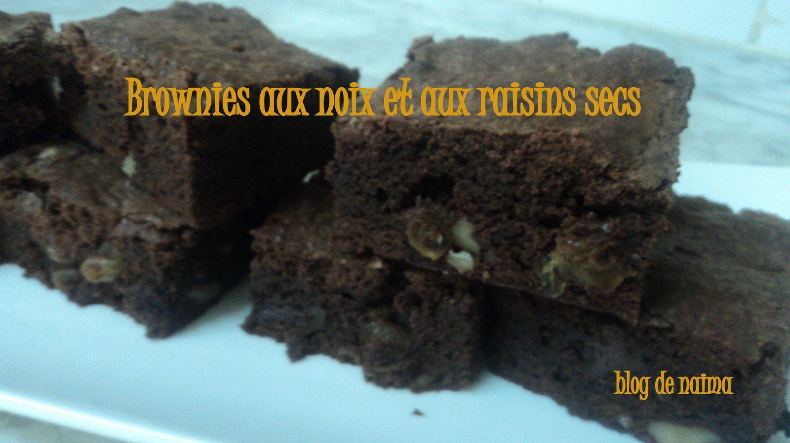 Brownies aux noix et aux raisins secs