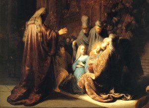 Présentation de Jésus au temple.