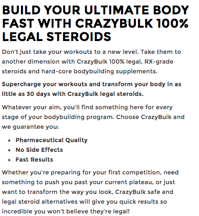 Crazy Bulk Legal Steroids Review