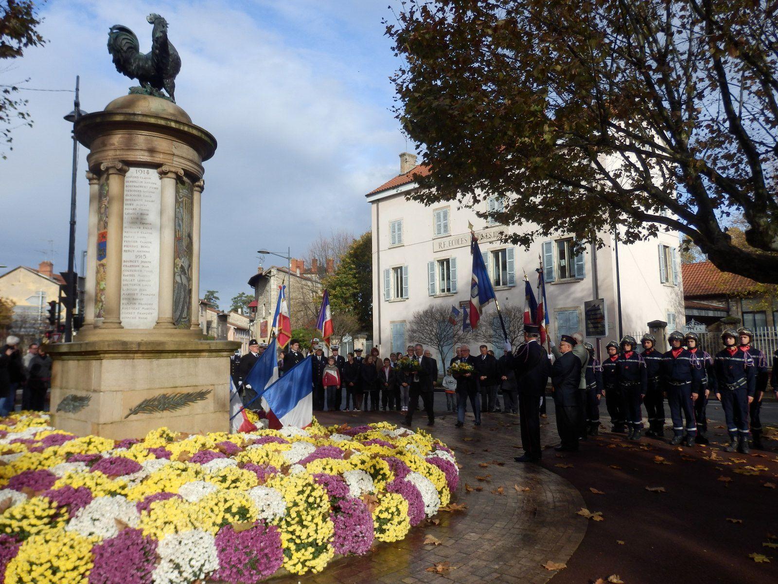 commémorations du 11 novembre Anse Lachassagne Ambérieux d'Azergues Pommiers Chazay