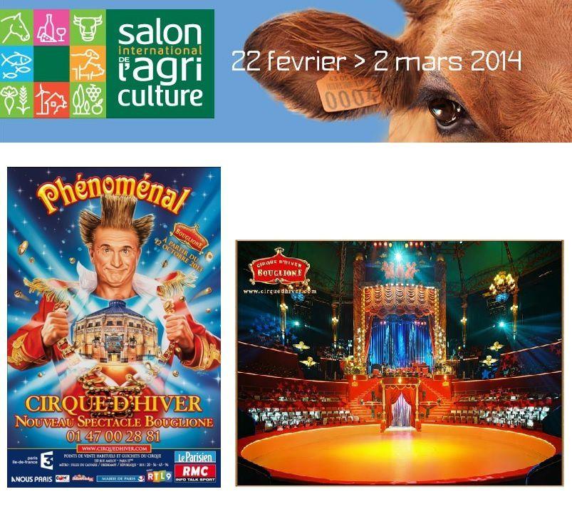 Sorties au salon de l 39 agriculture et cirque d 39 hiver for Sortie salon de l agriculture