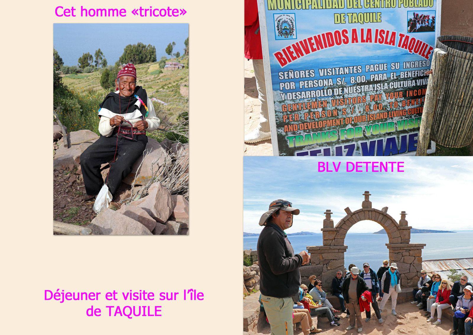 Jour 6 : De PUNO à LLACHON en passant par les minorités UROS et l'île de TAQUILE sur le lac TITICACA