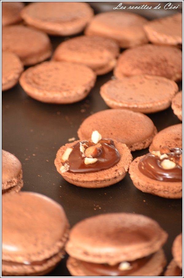 Macarons façon Ferrero Rocher
