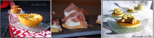 Idée Menu: trio pour l'apéro, filet mignon, tarte à la mousse au chocolat