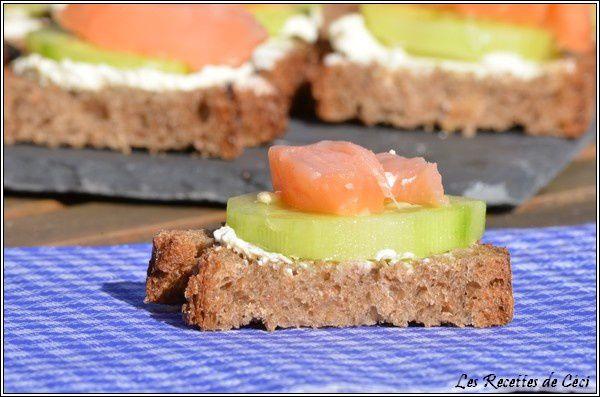 Canap boursin concombre et saumon les recettes de c ci for Canape saumon