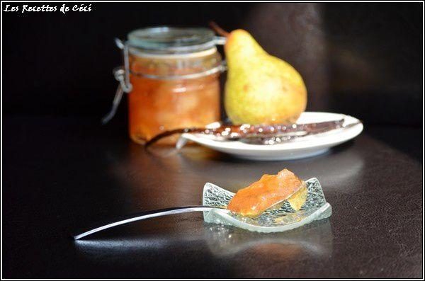 Confiture de poires à la vanille
