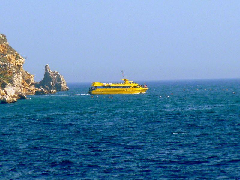 Un bateau d'une des nombreuses compagnies maritimes