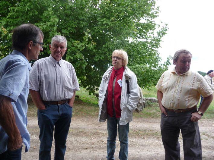 maraîchers et visiteurs