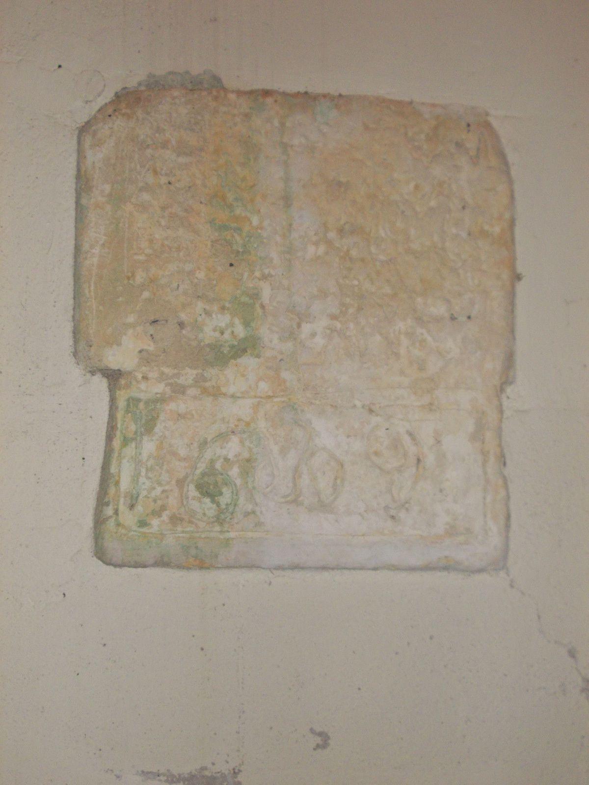 l'inscription de 16.... & la chapelle de la Vierge