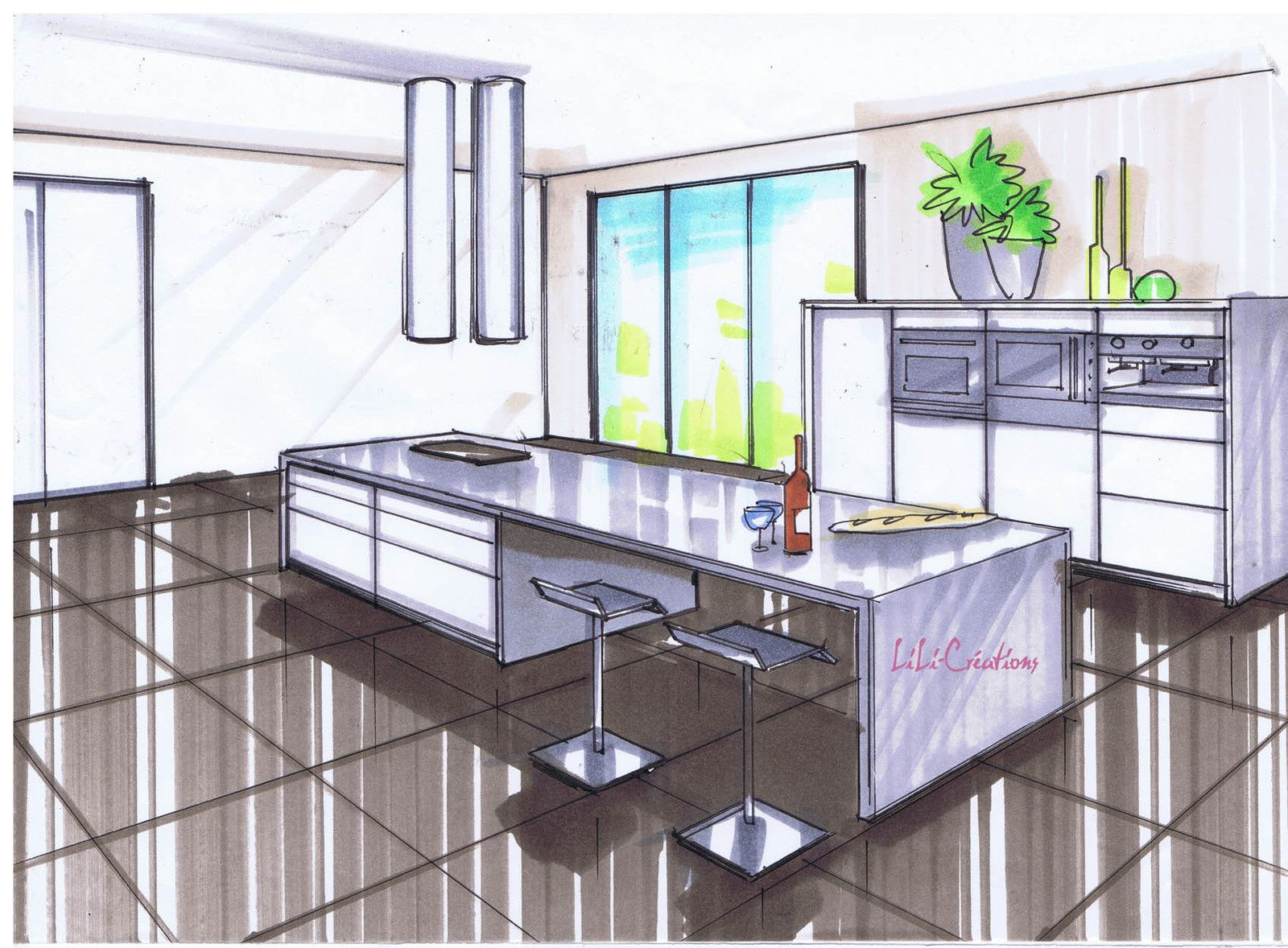 Le blog de elise fossoux d coration architecture d for Deco cuisine dessin