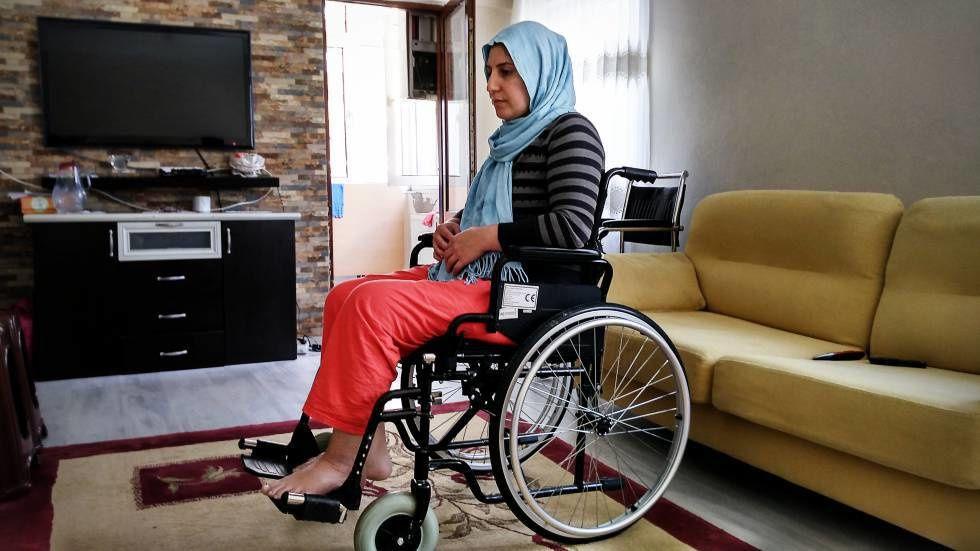 Handan Askin quedó paralizada por los disparos de su marido. Andrés Mourenza.- El Muni.