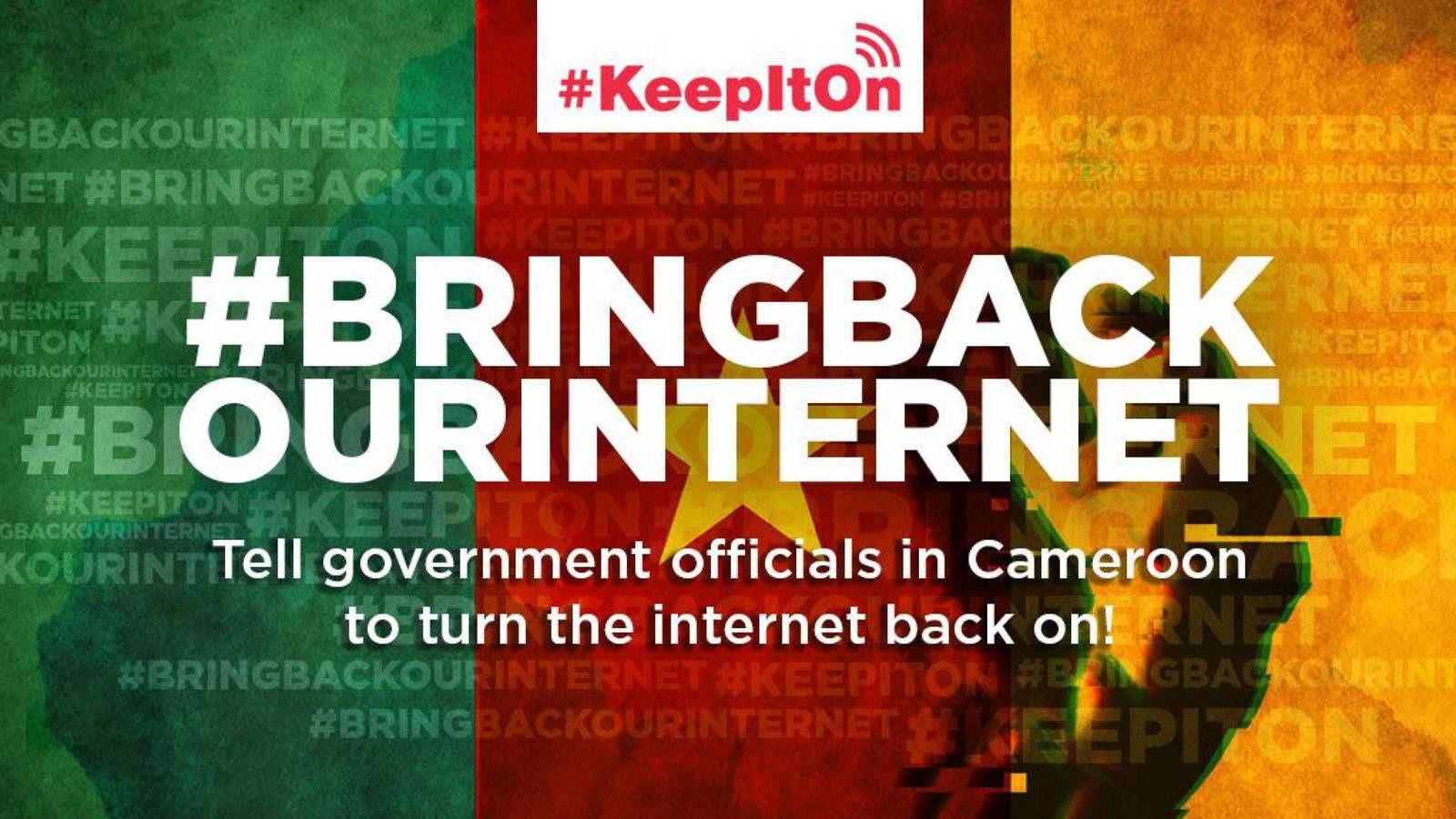 Los internautas cameruneses se rebelan ante el apagón de internet en las dos regiones anglofonas de Camerún..