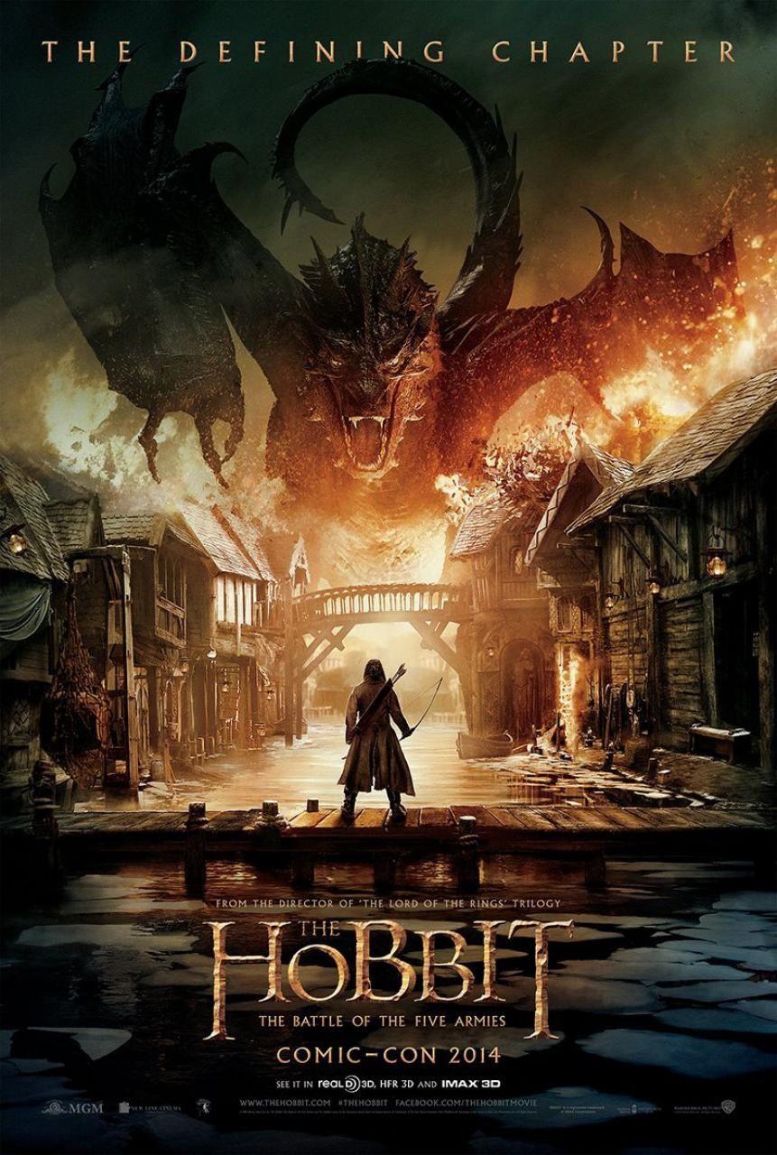Le Hobbit la Bataille des 5 Armées : affiche Comic Con