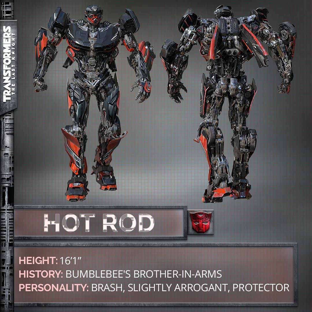 Transformers : The Last Knight - Hot Rod dévoilé