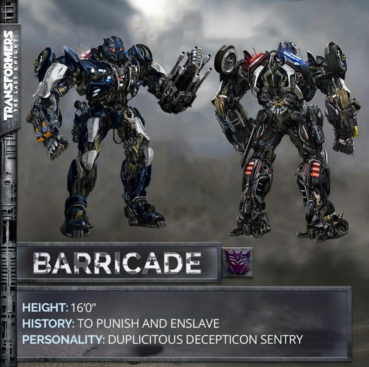 Transformers : The Last Knight - Barricade révélé