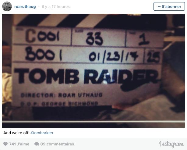 Tomb Raider : le tournage du reboot a commencé