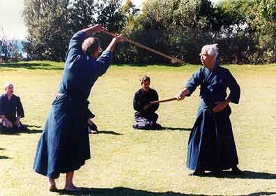 Pascal Krieger exécutant Kodachi no Ran-ai avec Me Nishioka à Sydney en 1997