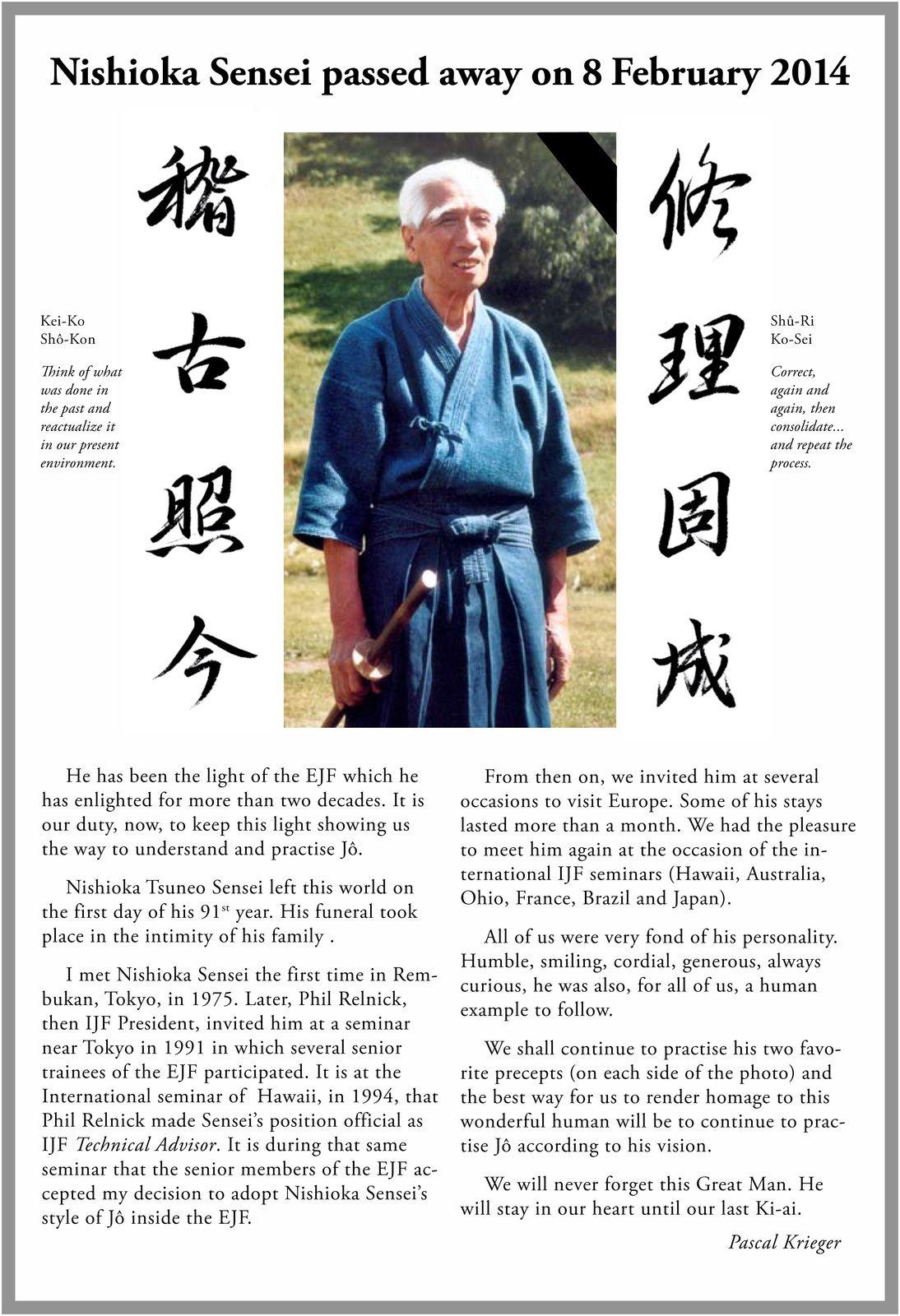 Mots d'adieux de Pascal Krieger à Me Nishioka