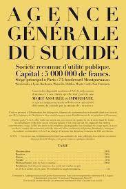 &quot&#x3B;AGENCE GENERALE DU SUICIDE&quot&#x3B; JACQUES RIGAUT