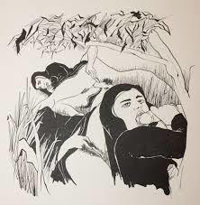 LA NONNE DE PIERRE MAC ORLAN DESSINEE PAR FOUJITA (1955)