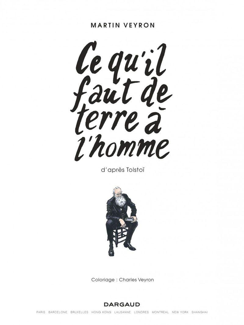 LE DERNIER MARTIN VEYRON, &quot&#x3B;CE QU'IL FAUT DE TERRE À L'HOMME&quot&#x3B; VIENT DE PARAITRE