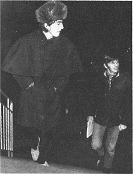 George and Ringo arriving at Abbey Road Studios for the recording session for Strawberry Fields Forever - November 1966