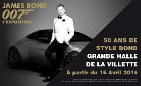 EXPOSITION JAMES BOND A LA VILLETTE DU 16 AVRIL AU 4 SEPTEMBRE 2016